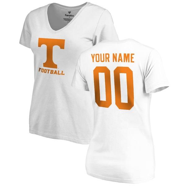 ファナティクス レディース Tシャツ トップス Tennessee Volunteers Fanatics Branded Women's Personalized One Color TShirt White