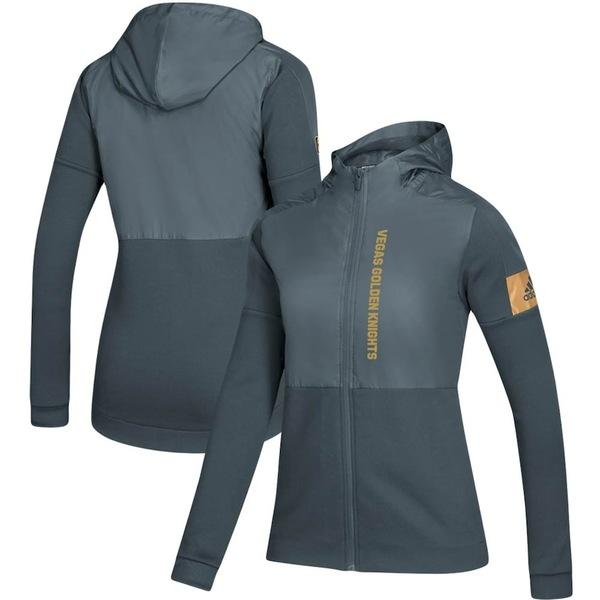 アディダス レディース ジャケット&ブルゾン アウター Vegas Golden Knights adidas Women's Game Mode Full-Zip Jacket Gray