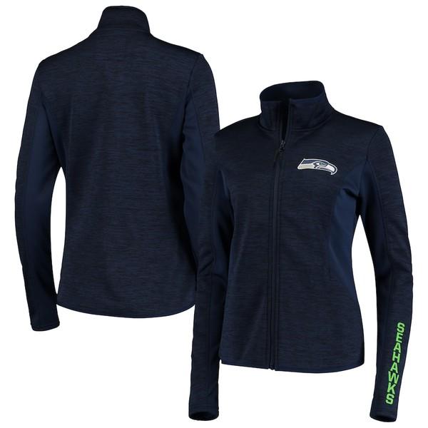 カールバンクス レディース ジャケット&ブルゾン アウター Seattle Seahawks G-III 4Her by Carl Banks Women's Defense Space Dye Full-Zip Jacket Navy