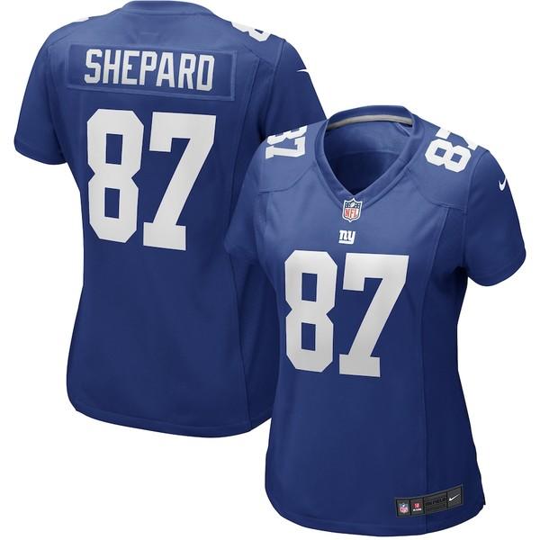 ナイキ レディース シャツ トップス Sterling Shepard New York Giants Nike Women's Game Jersey Royal