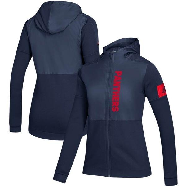 アディダス レディース ジャケット&ブルゾン アウター Florida Panthers adidas Women's Game Mode Full-Zip Hoodie Jacket Navy
