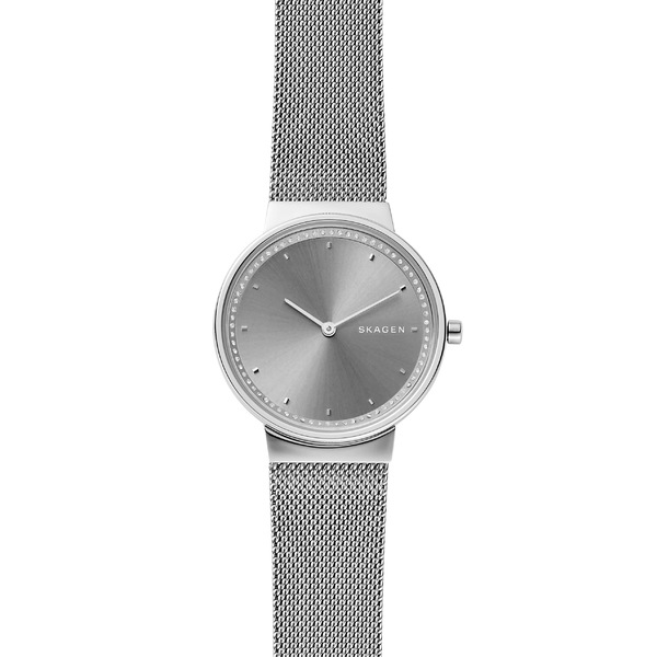 スカーゲン レディース 腕時計 アクセサリー Skagen Annelie Mesh Bracelet Watch, 34mm Silver/ Grey/ Silver