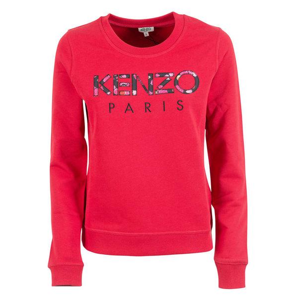 ケンゾー レディース パーカー・スウェットシャツ アウター Kenzo Embroidered Logo Sweatshirt Cerise