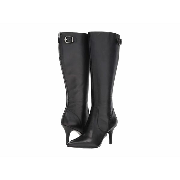 アンクライン レディース ブーツ&レインブーツ シューズ Fliss Boot Wide Calf Black Leather