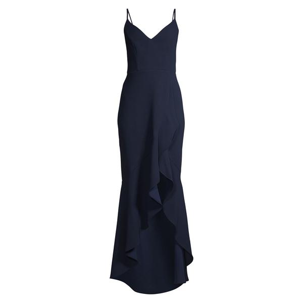 エスケープ レディース Dress ワンピース レディース トップス Ruffled Gown Dress Ruffled Navy, ギフト&グルメ北海道:de8dc537 --- officewill.xsrv.jp