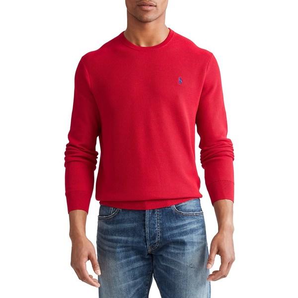 ラルフローレン メンズ ニット&セーター アウター Cotton Crewneck Sweater Red