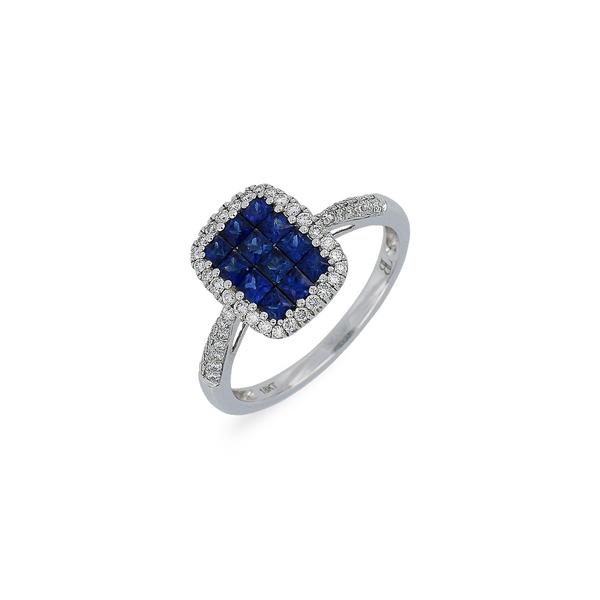 ボニー レヴィ レディース リング アクセサリー Sapphire & Diamond Ring White Gold