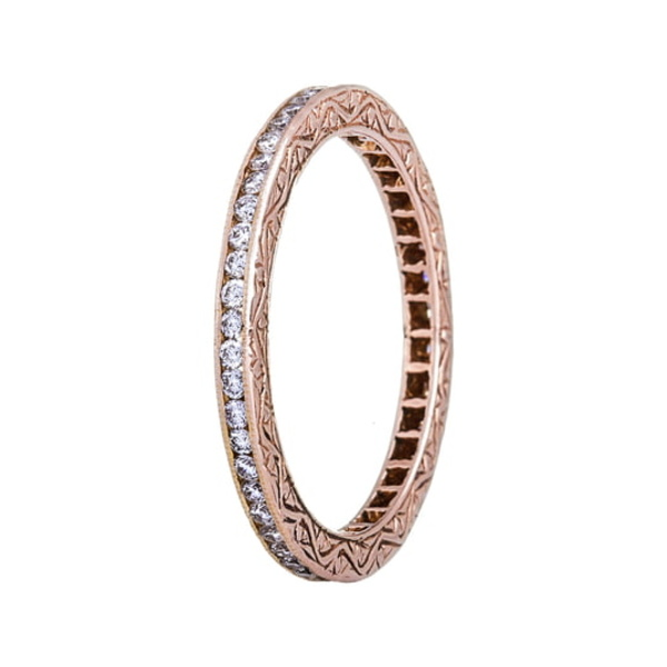 セチクチュール レディース リング アクセサリー Channel Set Diamond Ring Rose Gold