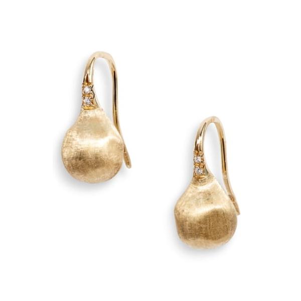 マルコ ビチェゴ レディース ピアス&イヤリング アクセサリー Africa PavDiamond Drop Earrings Yellow Gold