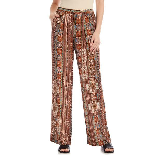 カレンケーン レディース カジュアルパンツ ボトムス Island Print Wide Leg Pants Print