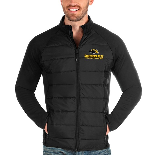 アンティグア メンズ ジャケット&ブルゾン アウター Southern Miss Golden Eagles Antigua Altitude Full-Zip Jacket Black
