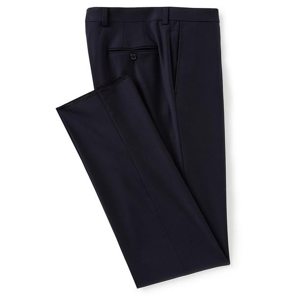 クレミュ メンズ ボトムス [宅送] カジュアルパンツ Navy 全商品無料サイズ交換 Modern Fit Flat Pants Front Dress トレンド Solid