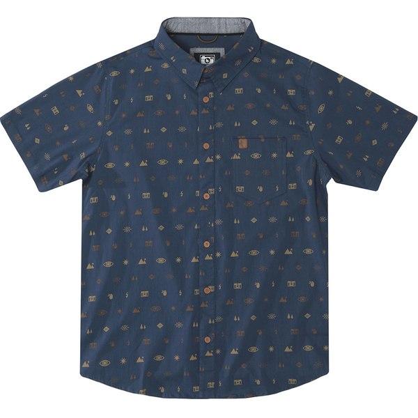 ヒッピーツリー メンズ シャツ トップス Settings Woven Shirt - Men's Navy
