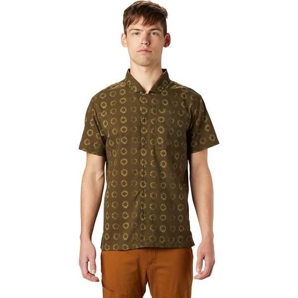 マウンテンハードウェア メンズ シャツ トップス El Portal Short-Sleeve Shirt - Men's Dark Army Geo Print