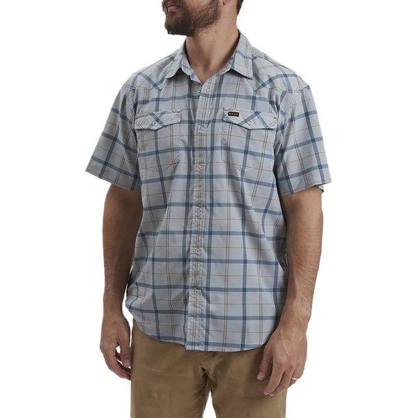 ハウラーブラザーズ メンズ シャツ トップス H Bar B Tech Shirt - Men's Portella Plaid Pigeon Grey