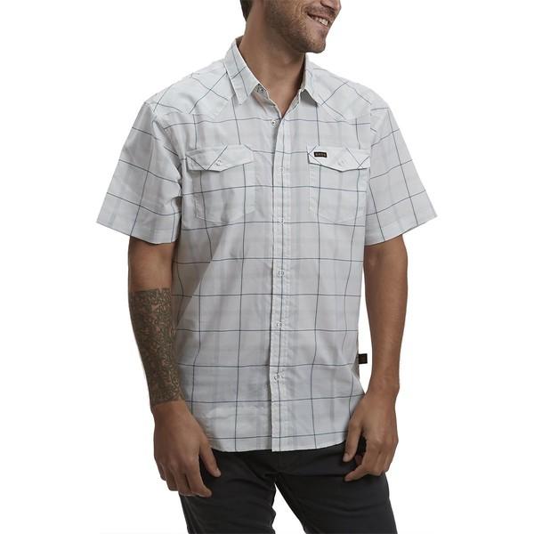 ハウラーブラザーズ メンズ シャツ トップス H Bar B Tech Shirt - Men's Portella Plaid Eggshell