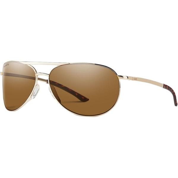 スミス メンズ サングラス・アイウェア アクセサリー Serpico 2 Slim ChromaPop Polarized Sunglasses Gold/Polarized Brown