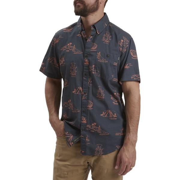 ハウラーブラザーズ メンズ シャツ トップス Mansfield Shirt - Men's Gulf Destinations Dark Slate Blue