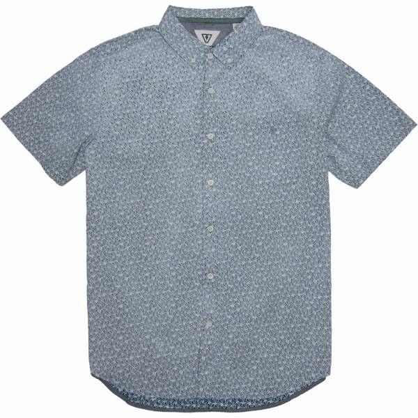 ヴィスラ メンズ シャツ トップス Polyps Short-Sleeve Woven Shirt - Men's Dark Denim