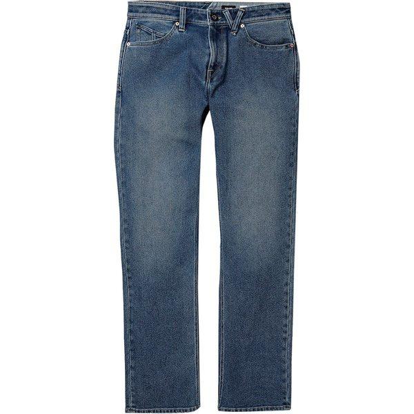 ボルコム メンズ カジュアルパンツ ボトムス Solver Jean - Men's Vintage Pacific Blue