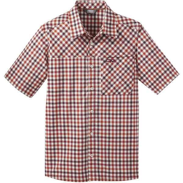 アウトドアリサーチ メンズ シャツ トップス Discovery Short-Sleeve Shirt - Men's Burnt Orange Plaid