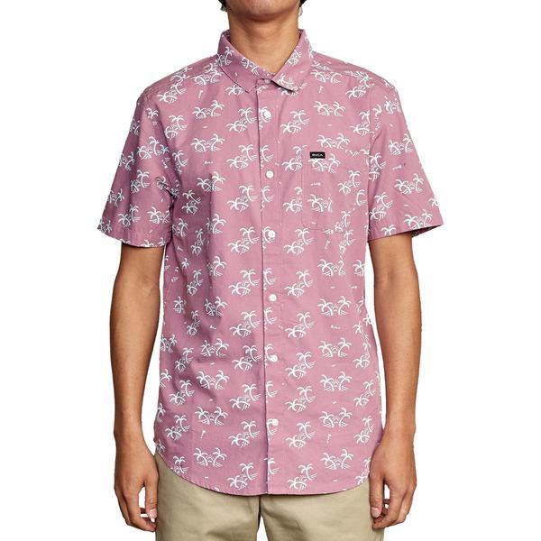 ルーカ メンズ シャツ トップス Easy Palms Short-Sleeve Shirt - Men's Mauve