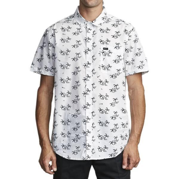 ルーカ メンズ シャツ トップス Easy Palms Short-Sleeve Shirt - Men's Antique White
