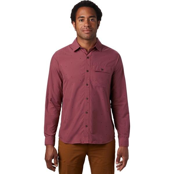 マウンテンハードウェア メンズ シャツ トップス Greenstone Long-Sleeve Shirt - Men's Washed Rock Scatter Dot Print