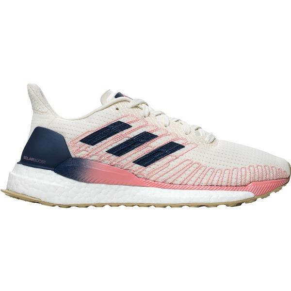 アディダス レディース ランニング スポーツ Solar Boost Running Shoe - Women's White/Silver Metallic/GLOPNK