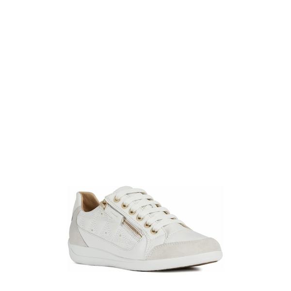 ジェオックス レディース スニーカー シューズ Myria Sneaker White/ Off White Leather