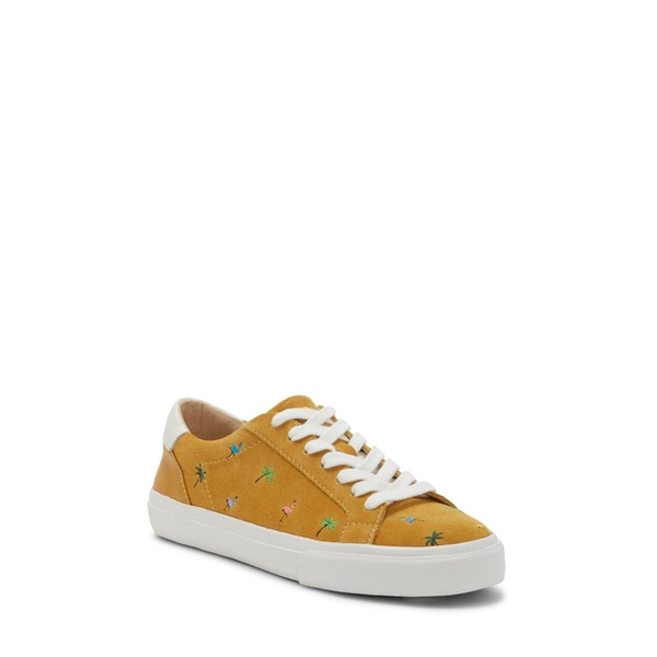 ラッキーブランド レディース スニーカー シューズ Darleena Sneaker Golden Yellow Suede