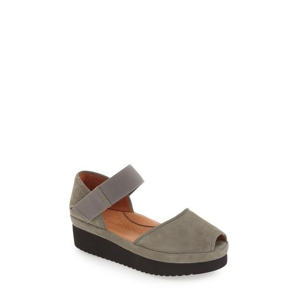 ラモールドピード レディース サンダル シューズ Amadour Platform Sandal Gray Suede Leather