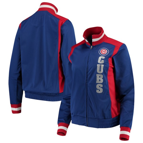 カールバンクス レディース ジャケット&ブルゾン アウター Chicago Cubs G-III 4Her by Carl Banks Women's On Deck Full-Zip Track Jacket Royal