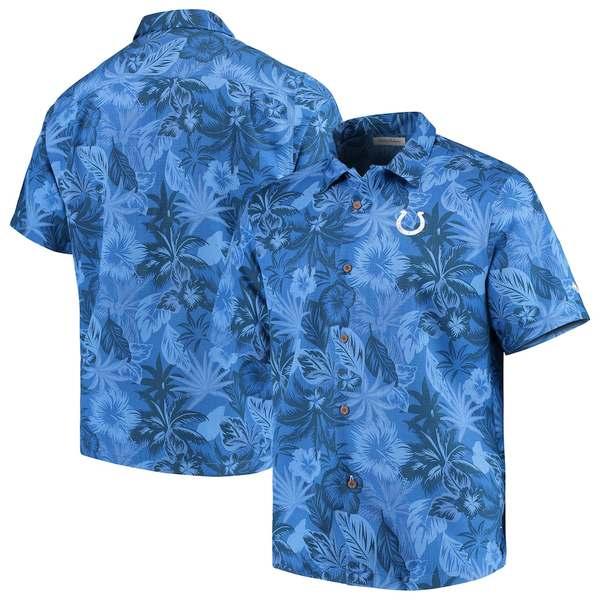 トッミーバハマ メンズ シャツ トップス Indianapolis Colts Tommy Bahama Fuego Floral Woven Button-Up Shirt Royal