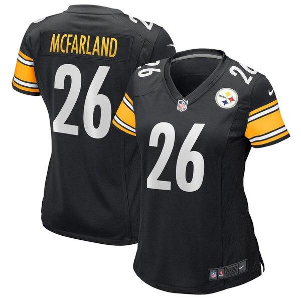 ナイキ レディース シャツ トップス Anthony McFarland Pittsburgh Steelers Nike Women's Game Jersey Black