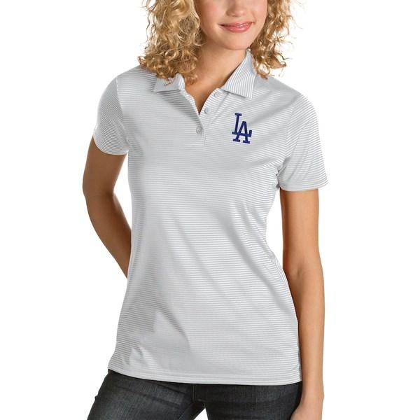 アンティグア レディース ポロシャツ トップス Los Angeles Dodgers Antigua Women's Desert Dry Quest Polo White