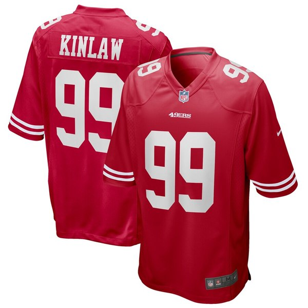 ナイキ メンズ シャツ トップス Javon Kinlaw San Francisco 49ers Nike 2020 NFL Draft First Round Pick Game Jersey Scarlet