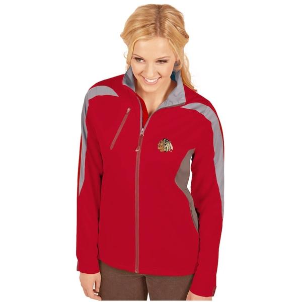 アンティグア レディース ジャケット&ブルゾン アウター Chicago Blackhawks Antigua Women's Discover Full-Zip Jacket Red