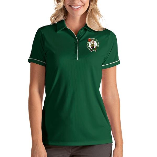 アンティグア レディース ポロシャツ トップス Boston Celtics Antigua Women's Salute Polo Green/White