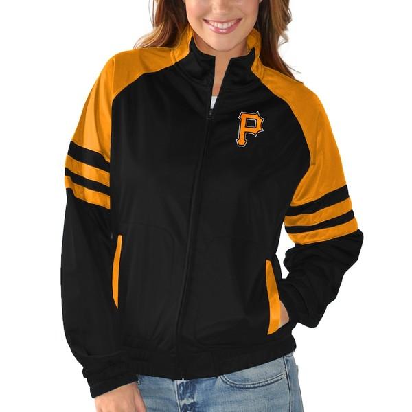 カールバンクス レディース ジャケット&ブルゾン アウター Pittsburgh Pirates G-III Sports by Carl Banks Women's Baseline Track Jacket Black