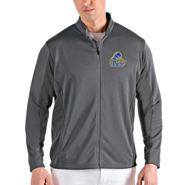 アンティグア メンズ ジャケット&ブルゾン アウター Delaware Fightin' Blue Hens Antigua Passage Full-Zip Jacket Gray/Charcoal