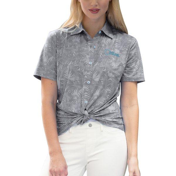 ビンテージアパレル レディース シャツ トップス Citadel Bulldogs Women's Vansport Pro Maui Button-Up Shirt Gray