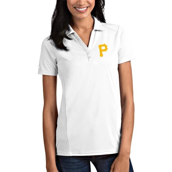 アンティグア レディース ポロシャツ トップス Pittsburgh Pirates Antigua Women's Tribute Polo White
