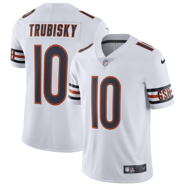 ナイキ メンズ シャツ トップス Mitchell Trubisky Chicago Bears Nike Vapor Untouchable Limited Jersey White