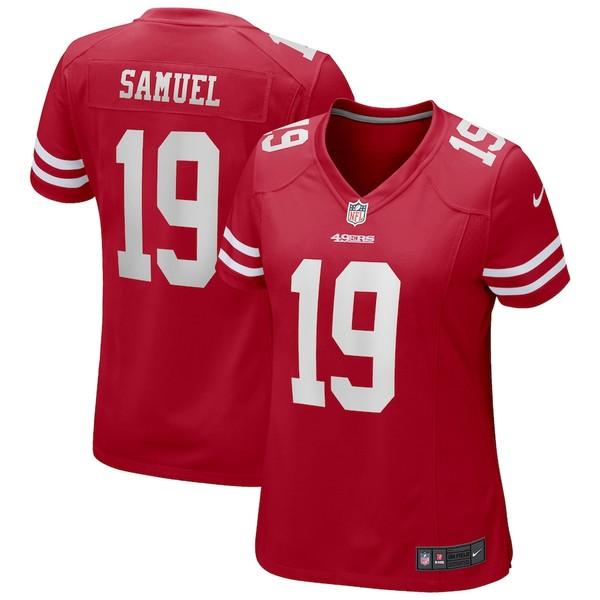ナイキ レディース シャツ トップス Deebo Samuel San Francisco 49ers Nike Women's Game Jersey Scarlet