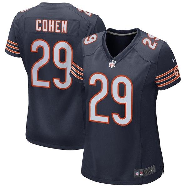 ナイキ レディース シャツ トップス Tarik Cohen Chicago Bears Nike Women's Game Jersey Navy