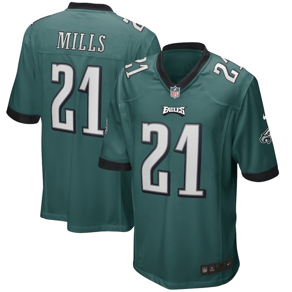 ナイキ メンズ シャツ トップス Jalen Mills Philadelphia Eagles Nike Game Player Jersey Midnight Green