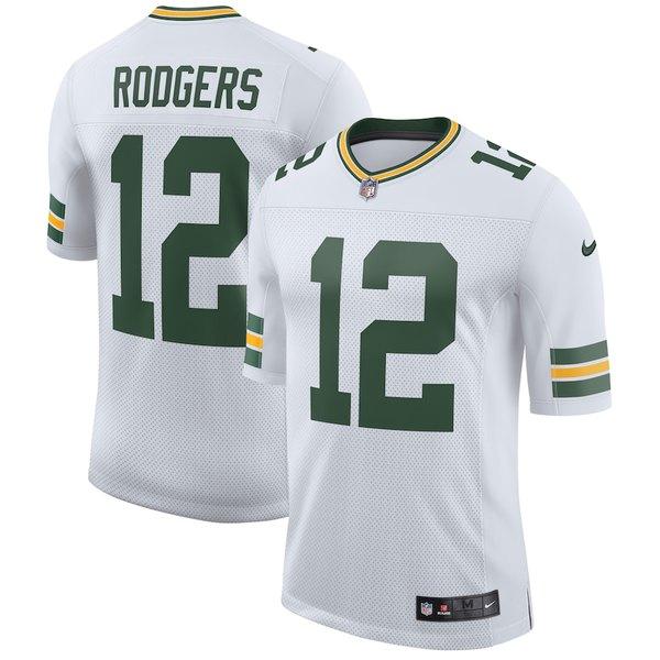 ナイキ メンズ シャツ トップス Aaron Rodgers Green Bay Packers Nike Classic Limited Player Jersey White