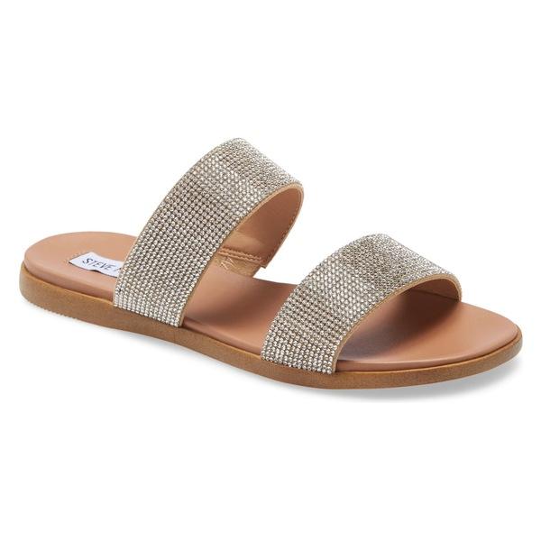 スティーブ マデン レディース サンダル シューズ Steve Madden Dual Woven Slide Sandal (Women) Rhinestone