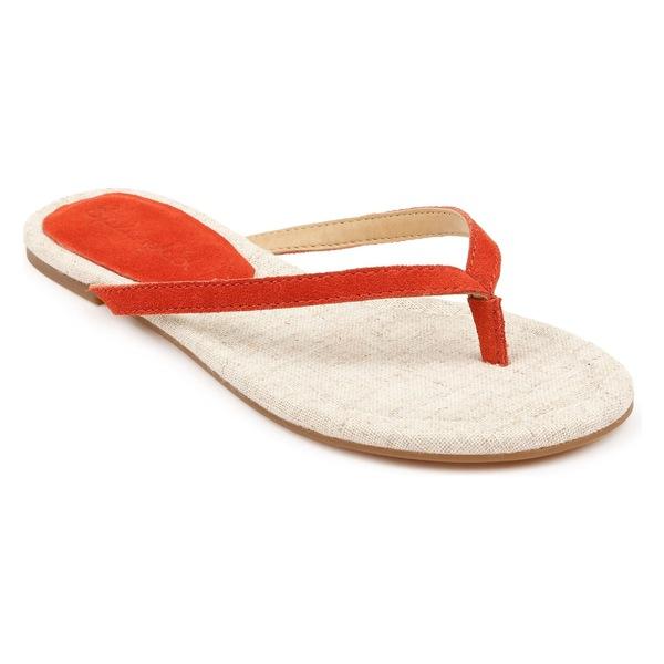 スプレンディット レディース サンダル シューズ Splendid Ashlee Flip Flop (Women) Poppy Suede